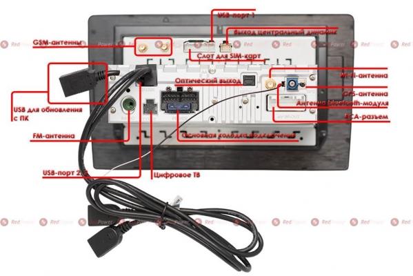 Автомагнитола для Mercedes Vito, Viano, Volkswagen Crafter RedPower 51068 R IPS DSP ANDROID 8+