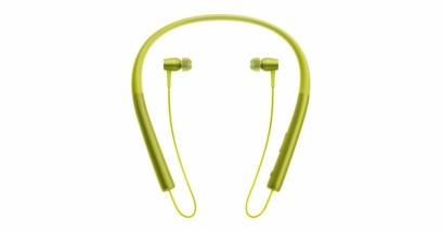 Беспроводные Bluetooth наушники Sony MDR-EX750BT желтые