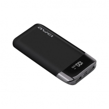 Power Bank Awei P52k 10000 mAh 2 USB LCD черный
