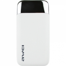 Power Bank Awei P52k 10000 mAh 2 USB LCD белый