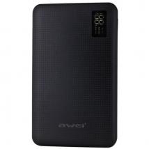 Аккумулятор внешний Awei P56k 30000 mAh с дисплеем черный