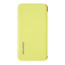 Аккумулятор внешний Awei P10k 6000 mAh желтый
