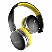 Беспроводные наушники Awei A500BL Bluetooth черно-желтые