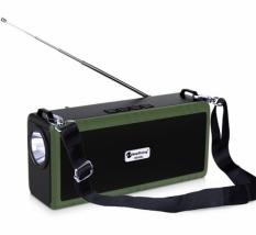 Портативная беспроводная колонка New Rixing NR-B2L зеленая с фонариком