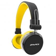 Беспроводные наушники Awei A700BL Bluetooth желтые