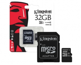 Карта памяти MicroSD 32 Gb Kingston с адаптером SD