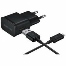 Сетевое зарядное устройство Samsung EP-TA12EBEUGRU для Galaxy 2A + кабель microUSB черный