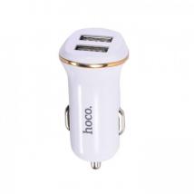 Автомобильное зарядное устройство HOCO Z1 2.1А, белое