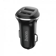 Автомобильное зарядное устройство HOCO Z1 2.1А, черное