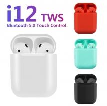 Беспроводные наушники i12 TWS Bluetooth 5.0 зеленые