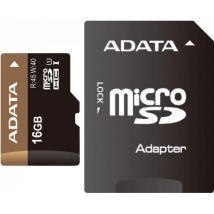 Карта памяти MicroSD 16 Gb A-Data Class10 с адаптером SD