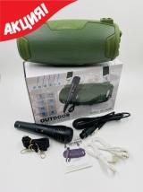 Портативная беспроводная колонка Profit NR-3026M зеленая с микрофоном