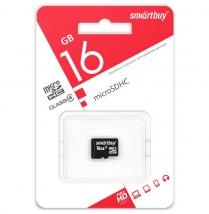Карта памяти MicroSD 16 Gb Smart Buy без адаптера SD