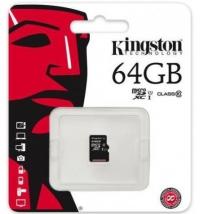 Карта памяти MicroSD 64 Gb Kingston без адаптера SD 80mb/s U1